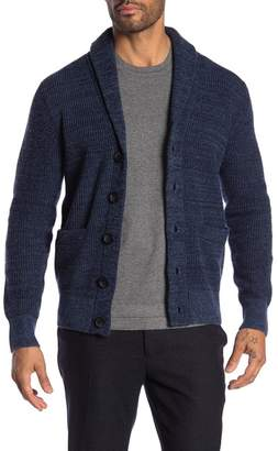 Barque Mix Color Shawl Collar Cardigan