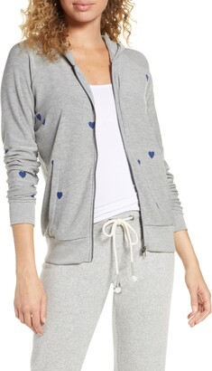 Chaser Tiny Hearts Zip Hoodie