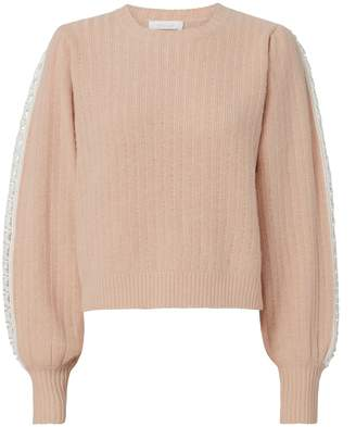 See by Chloe Crochet Detail Pullover