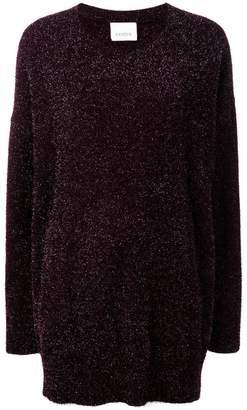 Laneus oversized tinsel jumper