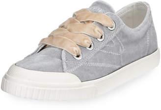 Tretorn Marley Lace-Up Velvet Sneakers