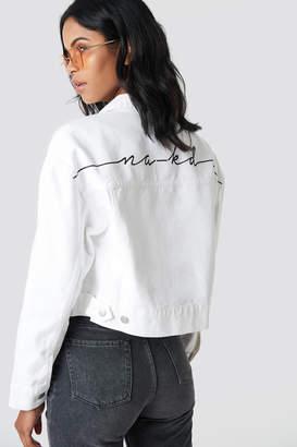 NA-KD Na Kd Trend Back Print Denim Jacket