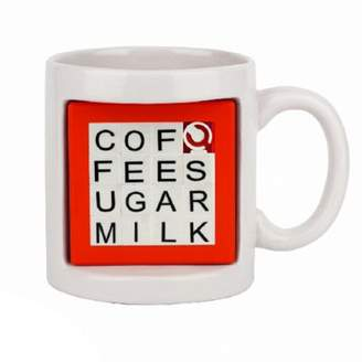 Thumbs Up Word Puzzler Mug, Ceramic, 490mL, (White & Red)