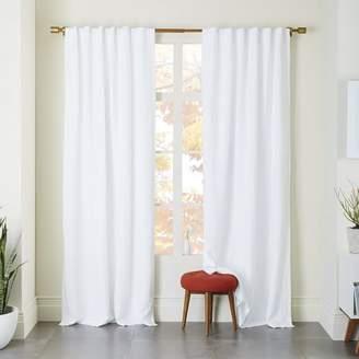 west elm Belgian Flax Linen Curtain - White