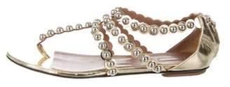 Alaà ̄a Studded Thong Sandals Gold Alaà ̄a Studded Thong Sandals