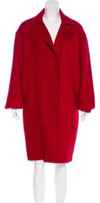 Lanvin Mohair-Blend Notch-Lapel Coat