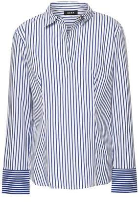 DKNY Striped Cotton-blend Poplin Shirt