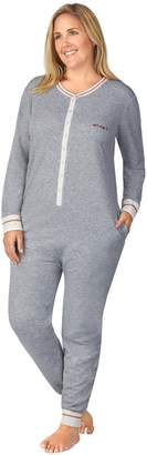 Cuddl Duds Plus Size Printed One-Piece Pajamas