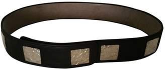 CNC Costume National Black Leather Belts
