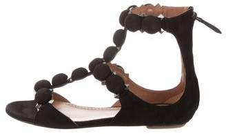 Alaia Chamois Bombe Studded Sandals w/ Tags