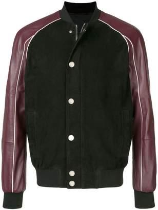 Les Hommes two-tone bomber jacket
