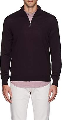 Barneys New York Men's Wool Half-Zip Sweater