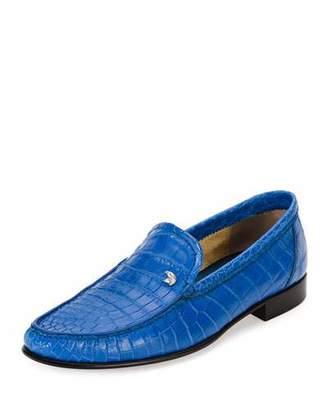 Stefano Ricci Classic Crocodile Leather Loafer, Blue $4,995 thestylecure.com