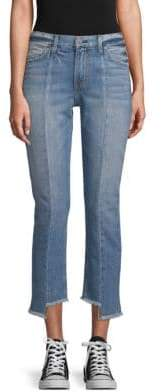 Step-Hem Cropped Jeans