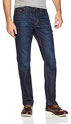 Rugged Mile Denim Men's Straight Fit Indigo Crosshatch Jean 38/34