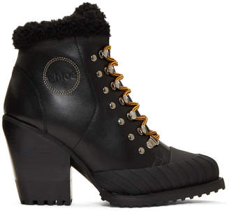 Chloé Black Lined Rylee Mountain Boots