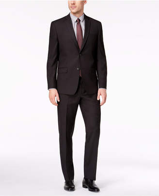 Andrew Marc Men's Classic-Fit Stretch Black Micro-Grid Suit