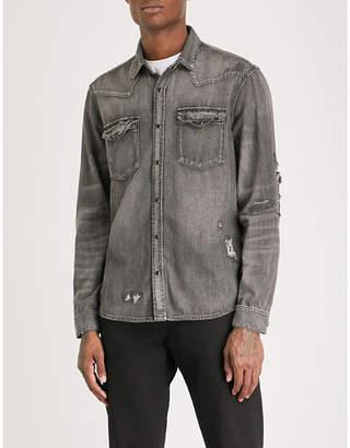 The Kooples Distressed western denim shirt