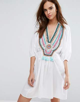 Seafolly Embellished Beach Cover Up $266 thestylecure.com