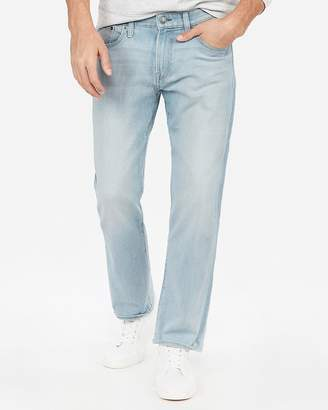 Express Classic Straight Light Wash Stretch Jeans