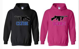 CLYDE Acacia Bonnie Matching with Best Couple Designs Couple Unisex Hoodie Sweatshirt