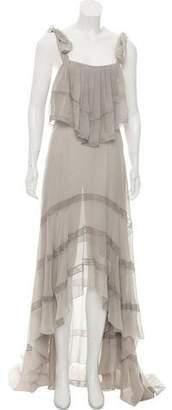 Philosophy di Lorenzo Serafini Silk Sleeveless Maxi Dress