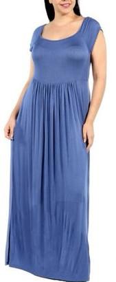 24/7 Comfort Apparel Women's Plus Cool Drink of Water Dress
