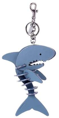 Coach Leather shark bag charm