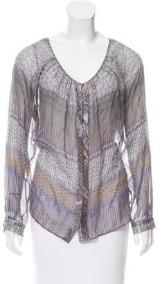 Of Two Minds Printed Silk Top