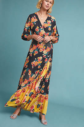 Anthropologie Farm Rio for Farm Rio Loretta Maxi Wrap Dress