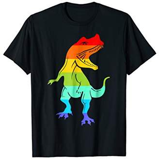 Pride LGBT Dinosaur T REX Shirt Gift Rainbow LGBT Gay Lesb