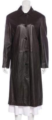 Barneys New York Barney's New York Casual Leather Coat