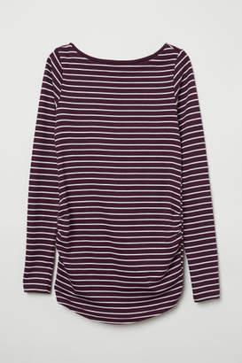 H&M MAMA Long-sleeved Jersey Top - Purple