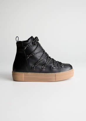And other stories Leather Snow Boots