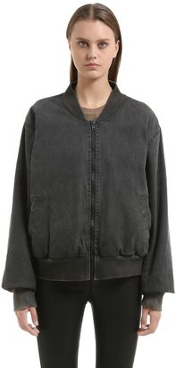 Washed Cotton Canvas Bomber Jacket $650 thestylecure.com