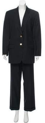 Burberry Wool Notch-Lapel Pantsuit