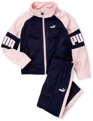 Puma Toddler Girls) Two-Piece Logo Raglan Track Jacket & Pants Set