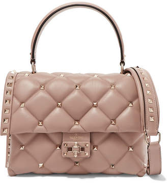 b0276d8a2bb5 Valentino Garavani Candystud Small Quilted Leather Shoulder Bag - Neutral