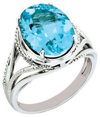 Sterling Oval Faceted Gemstone Ring