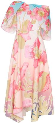 Peter Pilotto floral print off-shoulder dress