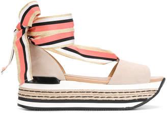Hogan lace-up sandals