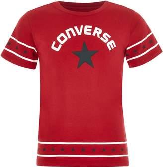Converse Girls Red star trim T-shirt