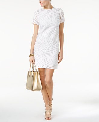MICHAEL Michael Kors Jacquard Shift Dress $195 thestylecure.com