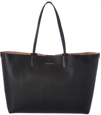 Alexander McQueen Medium Embossed Leather Shopper Tote