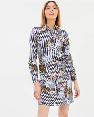 Warehouse Molly Floral Cotton Shirt Dress