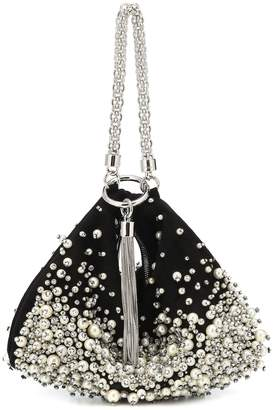 Jimmy Choo Callie pearl-embroidered clutch