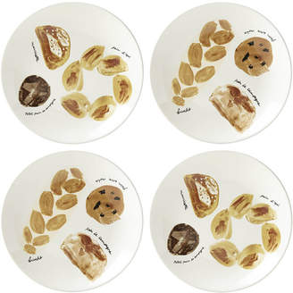 All in Good Taste 4-Pc. Freshly Baked Bread Accent Plates
