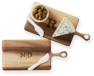 Mark And Graham Acacia Cheese Board with Seashell Spreaders