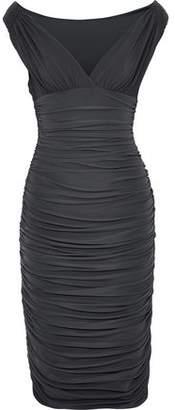 Norma Kamali Ruched Stretch-jersey Dress