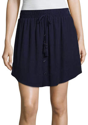 BY AND BY by&by Woven Skater Skirt-Juniors